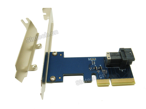 U.2 SSD Mini SAS(SFF-8643) to PCI-e 4X 3.0 adapter for Intel 75