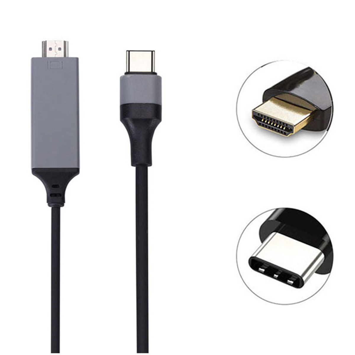 USB Type-C 3.1 to HDMI Cable 4K M/M 6ft For MacBook Galaxy S8