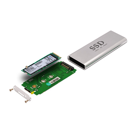 M.2 NGFF PCIe SSD to USB 3.0 Adapter With Case