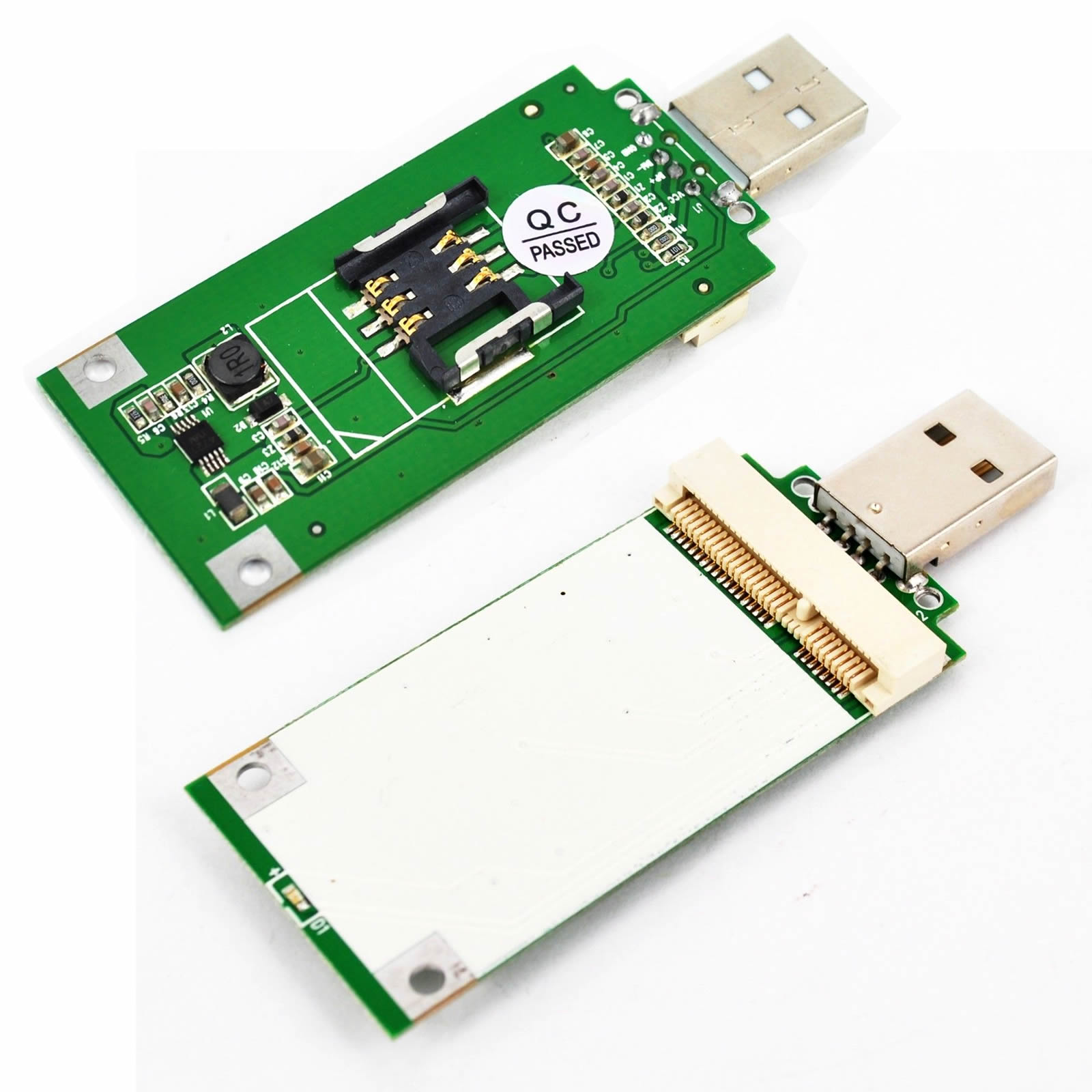Mini PCI-e 3G WLAN Wireless WIFI card to USB Adapter with sim s