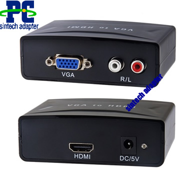 PC VGA to HDTV HDMI video adapter converter
