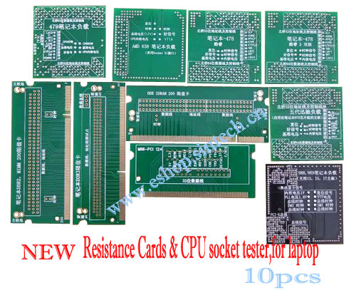Resistance Cards & CPU socket tester without LED,for laptop
