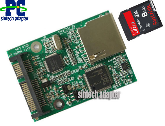 SD/SDHC/SDXC/MMC/TF card to SATA adapter converter