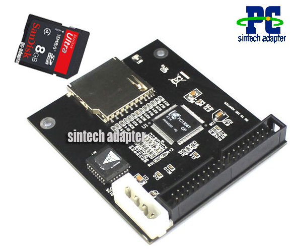SD Flash Memory to 40P IDE Adapter