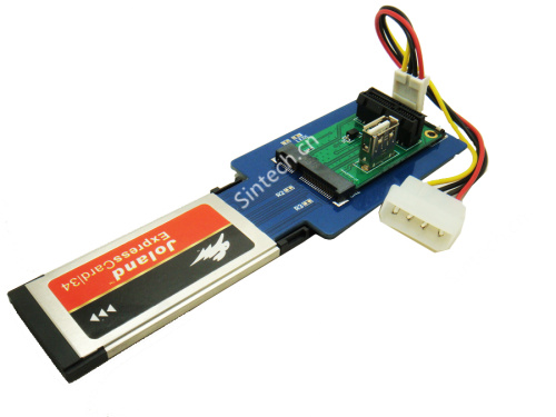 Laptop expresscard 34 to Mini PCI-e USB+ PCIe 1X Card