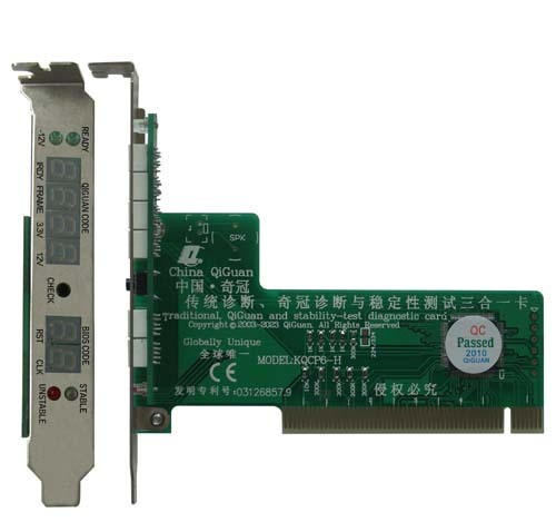pc motherboard PCI 6bit diagnostic post test debug card