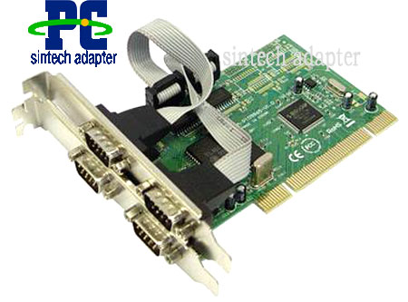 PCI to 4 serial RS232 ports adapter