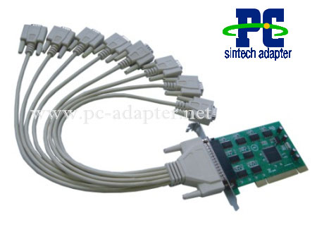 Adaptor Card on Pci To 8 Serial Ports Adapter 8 Serial Port Pci 32 Bit Card