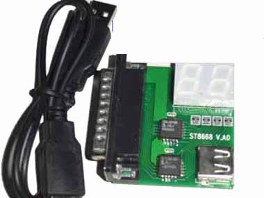 LPT port 2 bit diagnostic card for Desk pc and notebook