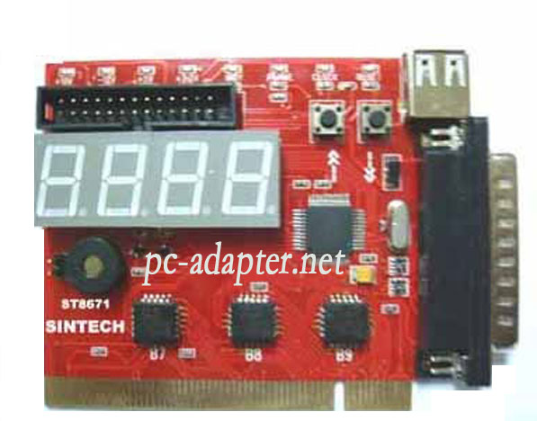 PCI &LPT port motherboard diagnostic POST debug analyzer debug c
