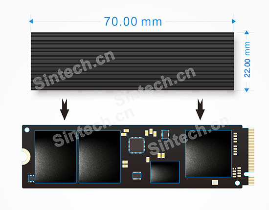 Cooling Heatsink for M.2 NGFF 2280 SM951 SM961 960PRO NVMe SSD