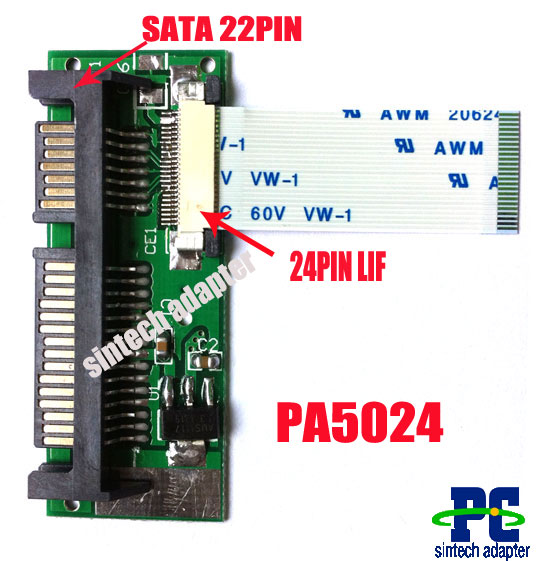 24pin lif macbook air SSD HDD to 22pin SATA adapter card