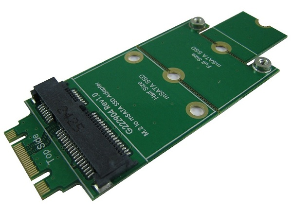 mSATA MINI SATA 3 SSD to M.2(NGFF) B KEY adapter