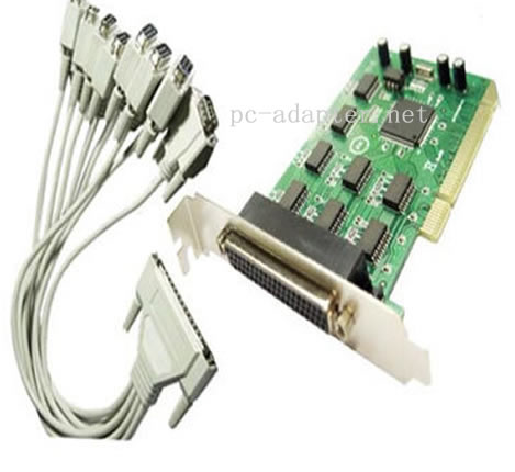 PCI to 8 serial ports adapter