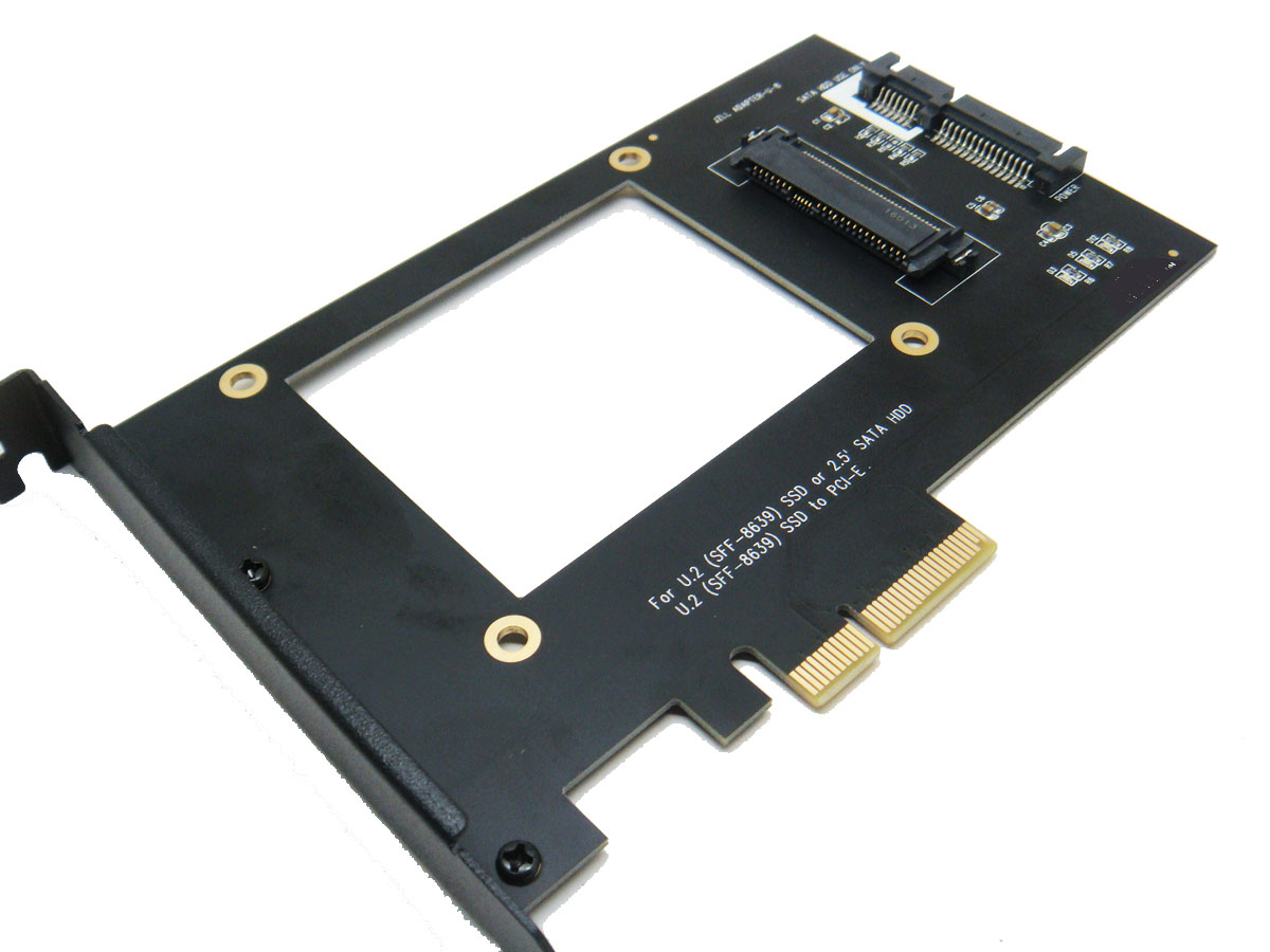 U.2 SFF-8639 NVMe SSD to PCI-e 4X adapter