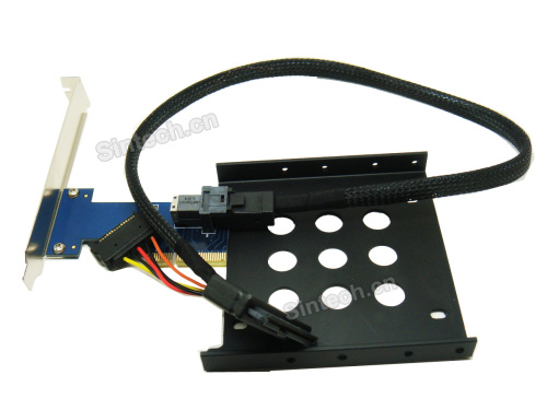 U.2 SSD to PCI-e 4X 3.0 adapter with Cable/bracket for Intel 750