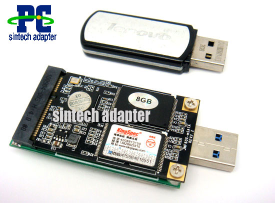 USB 3.0 mSATA SSD adapter card as disk driver