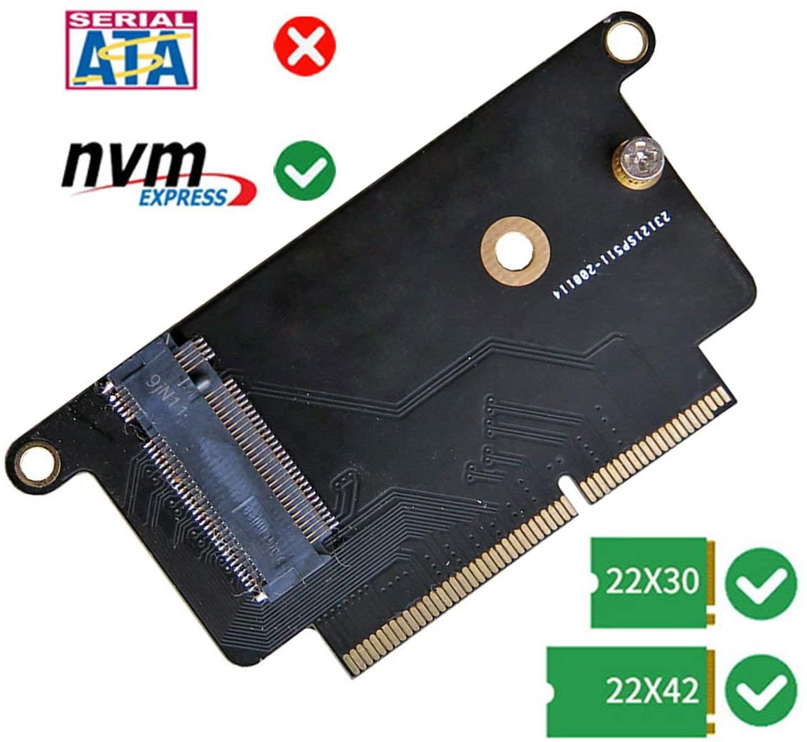 M.2 NVMe 2230/2242 SSD Card for Upgrade 2017 Macbook PRO A1708
